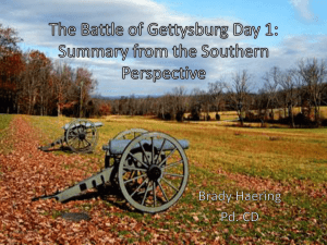 The Battle of Gettysburg Day 1: Summary from the Southern