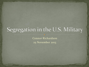 Segregation in the US Military