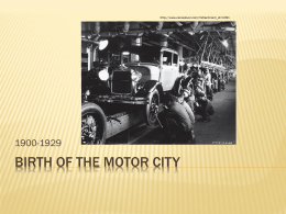 Birth of the motor city - Detroit Historical Museum