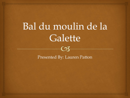 Bal du moulin de la Galette - AP English Language and Composition