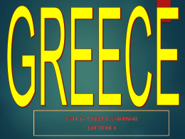 LECTURE 01_Greece