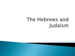 The Hebrews and Judaism Shorter