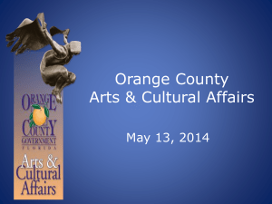 Discussion Orange County Arts & Cultural Affairs