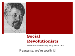 Social Revolutionaries Ppt