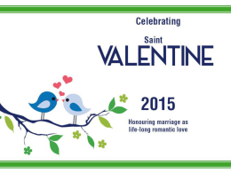 St Valentine`s Day Powerpoint Slides 2015