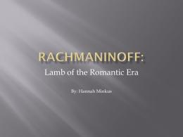 Rachmaninoff Powerpoint