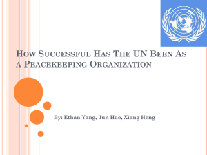 How Successful Has The UN Been As a