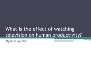 What is the effect of watching television on human - ast