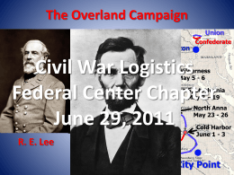 Civil War Logistics