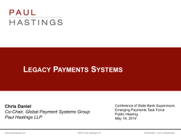 Legacy Payments Systems - Conference of State Bank Supervisors