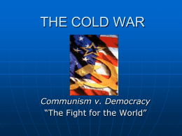 Communism v Democracy notes