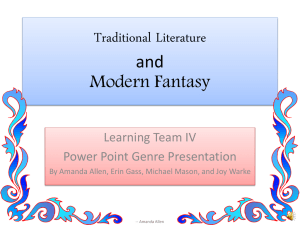 Learning Team IV Genre Presentation(2)