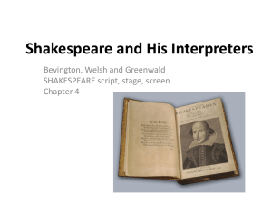 Shakespeare and His Interpreters