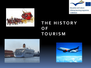 History of tourism with workshop