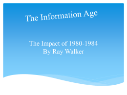 The Information Age - 20th-century