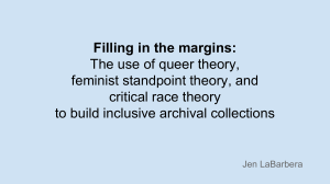 Filling in the margins: The use of queer theory