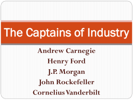 The Captains of Industry - pams