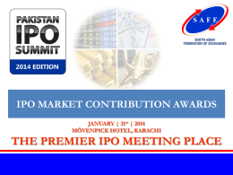 Presentation of Special Awards for IPO Market Contributions.