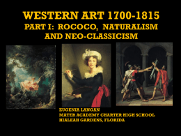 western art 1700-1870 part i: rococco, naturalism and neo