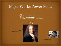 Major Works Power Point Candide