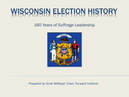 Wisconsin Election History
