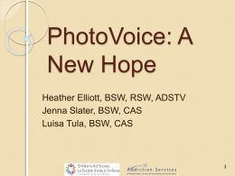 TC3 - Photovoice - A New Hope - Addictions and Mental Health
