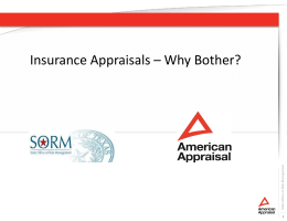 Insurance Appraisals - The State Office of Risk Management