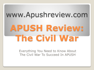 APUSH-Review-The-Civil-War-Final
