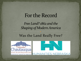 For the Record - Humanities Nebraska