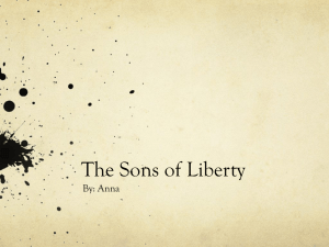 The Sons of Liberty