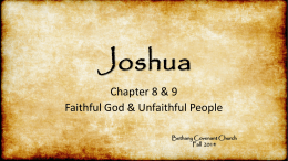 Book of Joshua PowerPoint Chapter 8 & 9