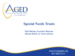 How simple is it to join the AGED Pooled Trust?