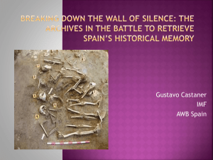 Breaking down the wall of silence: the archives in the