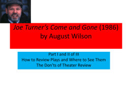 by August Wilson