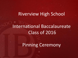 Click here - Riverview IB