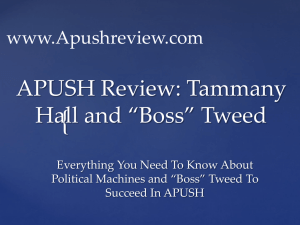 """Boss"" Tweed - APUSH Review"