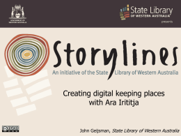 Creating digital keeping places with Ara Irititja