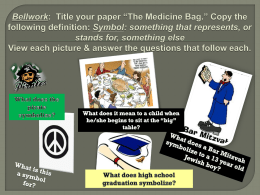"""The Medicine Bag"" PPT"