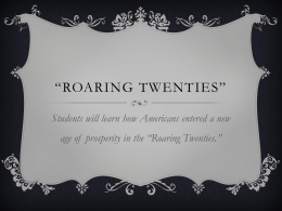 Roaring Twenties PPT