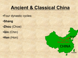 Chapter 2- Classical Civilization: China