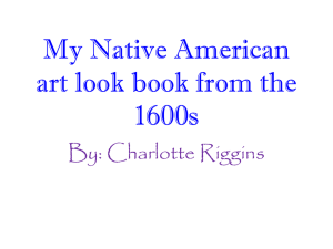 My Native American art look book from the 1600s