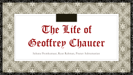 Life of Chaucer