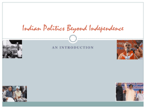 Politics of India Since Independence