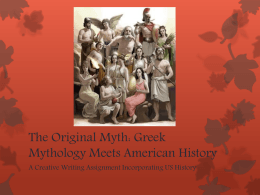 Greek Mythology Meets American History - pams