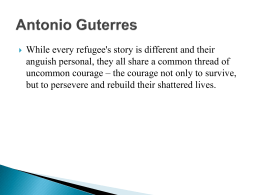Refugee Workshop – Case Study Presentation