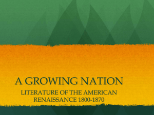 a growing nation: literature of the american renaissance