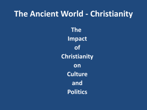 Impact of Christianity on Politics and Culture