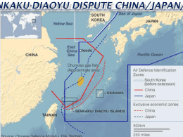 Senkaku-Diaoyu Dispute China/Japan/U.S.