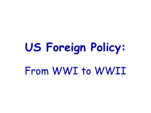 US Foreign Policy 1919-1939