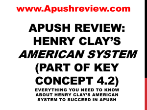 Henry Clay`s American System